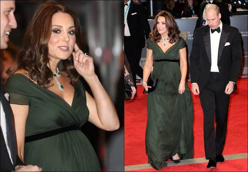 【反黑裙風波】Kate Middleton 深綠晚裝現身 BAFTA  「態度」藏在細節中