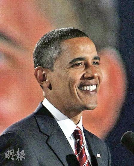 奧巴馬當選成為美國首名黑人總統,為美國歷史寫下新的一頁。他在芝加哥發表勝利演說,矢言團結全國民眾,迎接挑戰。(法新社)
