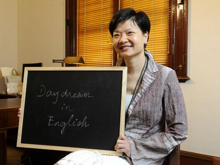 余若薇說,Daydream in English是學好英語的不二法門。圖﹕陳淑安