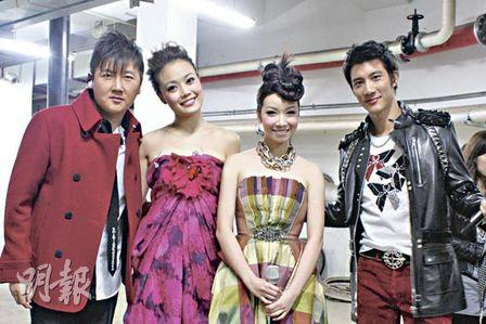 From left: Sun Nan, Joey Yung, Chita, Lee Hom