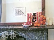 Emma followed the tradition of filling the house with fruit and chocolate during Chinese New Year.