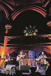 Emma and her band singing Fight For This Love in honour of 6 Music at the Union Chapel in London.