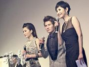Niki Chow (周麗淇, left) and Gary Chaw (曹格, middle) and Janis (right).