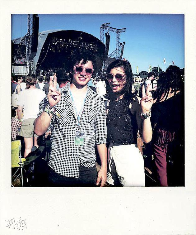 My brother and me at Glastonbury.(photo by Emma-Lee Moss)