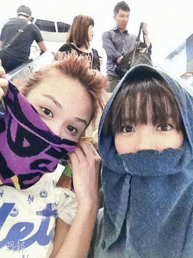 Crystal (left) and I (right). We jog together!