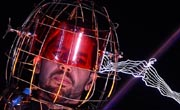 "United States Magician David Blaine stood under lighting bolts at the start of his latest performance, ""Electrified"", in New York, October 05, 2012. AFP Photo"