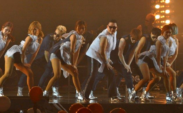 South Korean singer Park Jae-sang, also known as Psy, performed during his concert at Seoul on October 2, 2012. AFP Photo