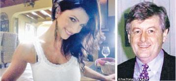 毒販盜用世界比堅尼小姐米拉尼的相片(左圖)和身分,在網上誘騙科學家弗蘭普頓(右圖)入局。(網上圖片)