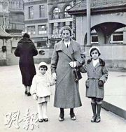 (From left to right) Anne Frank, her mother Edith and her sister Margot.