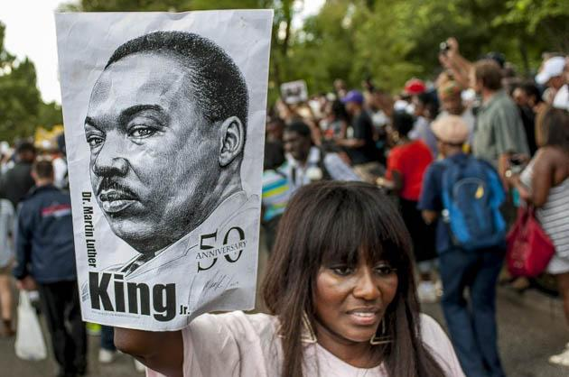 People arrived at the National Mall to celebrate the 50th anniversary of the March on Washington and Dr. Martin Luther King, Jr.'s 'I have a Dream' speech on the National Mall on August 24, 2013 in Washington, DC, USA. (AFP Photo)