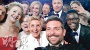 Ellen DeGeneres 與一眾荷李活影星在奧斯卡玩自拍,又大派薄餅,除了炒熱氣氛外也讓大家看到璀燦影星平凡一面。