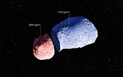 By making exquisitely precise timing measurements using ESO New Technology Telescope, and combining them with a model of the asteroid's surface topography, a team of astronomers has found that different parts of this asteroid have different densities. (AFP Photo/European Southern Observatory/JAXA)