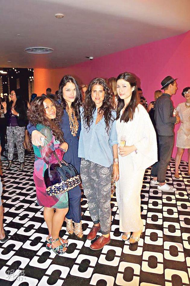 Zee, Sharon, Francesca and I