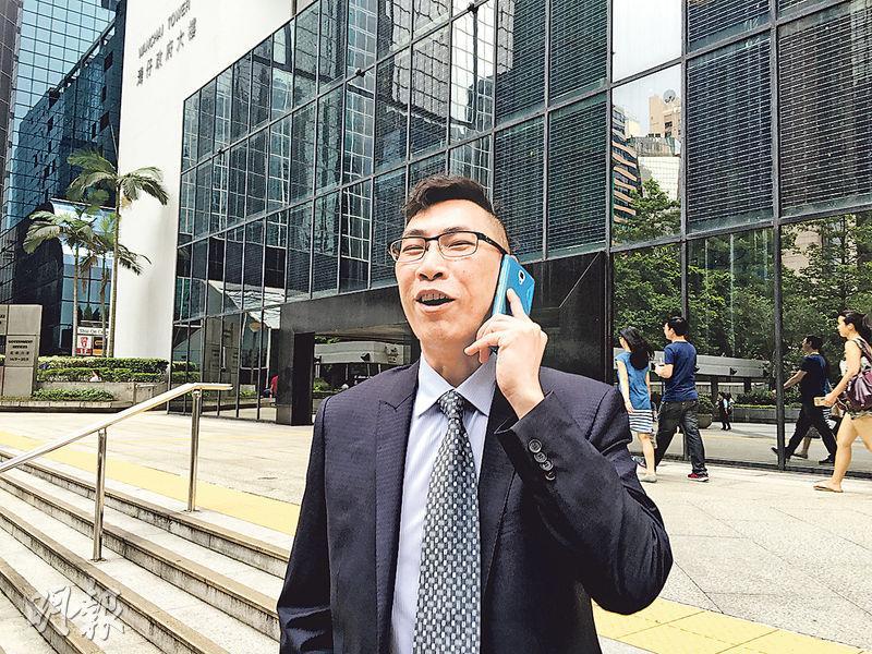 住客被告李國光(圖)涉要求接手管理興東邨的佳富,跟從上手管理公司做法,向他提供租金及裝修費。佳富為免麻煩,向他支付數萬元。(劉卓瑩攝)