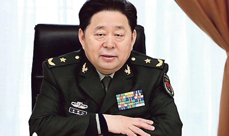 今年58歲的解放軍總後勤部前副部長谷俊山,昨日被一審判處死緩,並被剝奪中將的軍銜。(資料圖片)