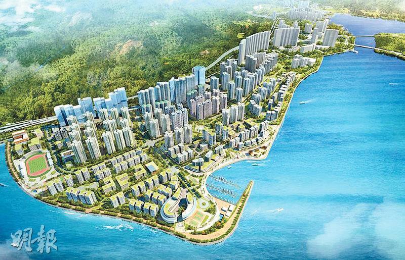 東涌新市鎮擴展計劃中,東涌東將填海約130公頃,提供擴展計劃中逾八成新住宅,並建造作為主幹道公路的P1公路。(發展局提供)