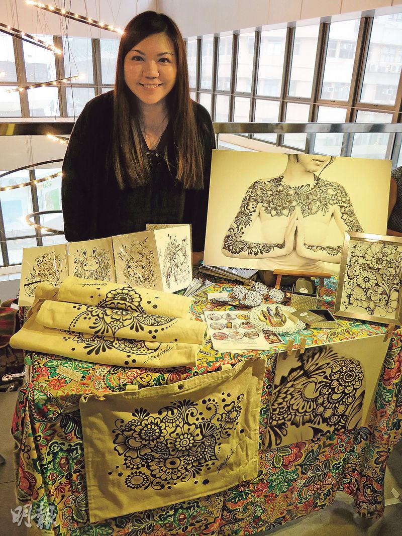 本地henna藝術家Helen Chak