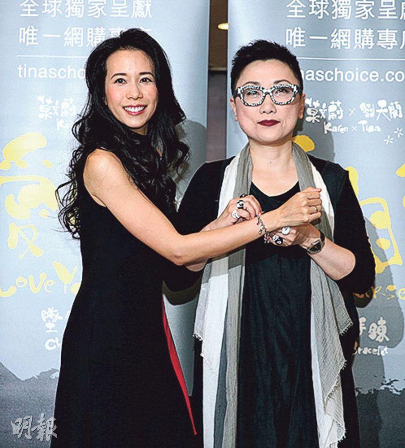 莫文蔚昨日與好友劉天蘭,為合作的首飾舉行發布會。