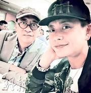 黃宗澤與爸爸感情要好,但因要到杭州拍劇,未能見父親最後一面。(微博圖片)