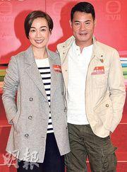江美儀與黃智賢在新劇扮演夫妻,兩人笑言最大難度是要揣摩為人父母的感覺。(攝影﹕鍾偉茵)
