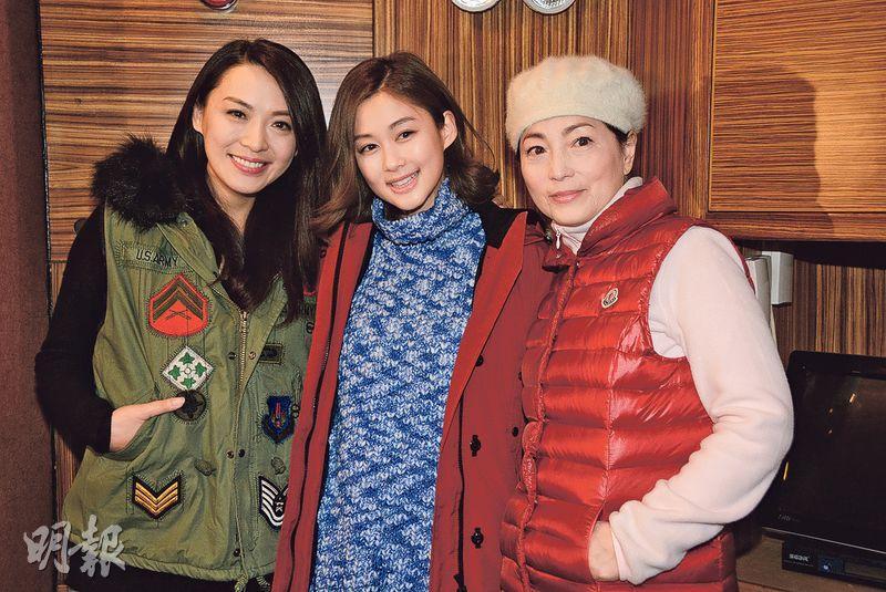 陳煒(左起)、香香及苑仔前晚出席無綫新劇《火線下的江湖大佬》團年飯局。(攝影/記者﹕梁榮達)