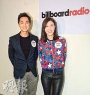 鄭俊弘與吳若希昨日接受網絡電台訪問。(攝影/記者﹕梁榮達)