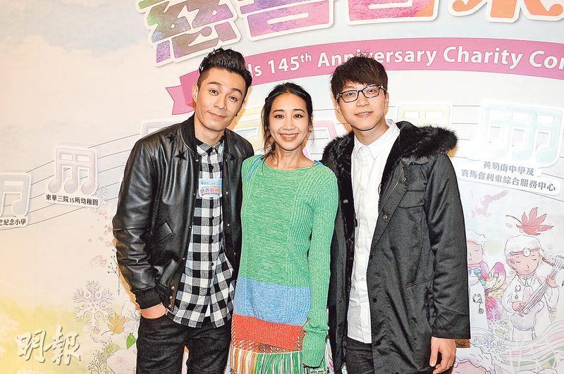 吳業坤(右起)笑言讀書時常聽吳雨霏及周柏豪的歌曲。(攝影:鍾偉茵)