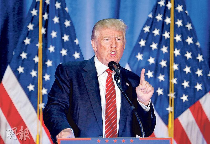 特朗普周一在大選關鍵游離州俄亥俄州的揚斯敦州立大學發表演說。(路透社)