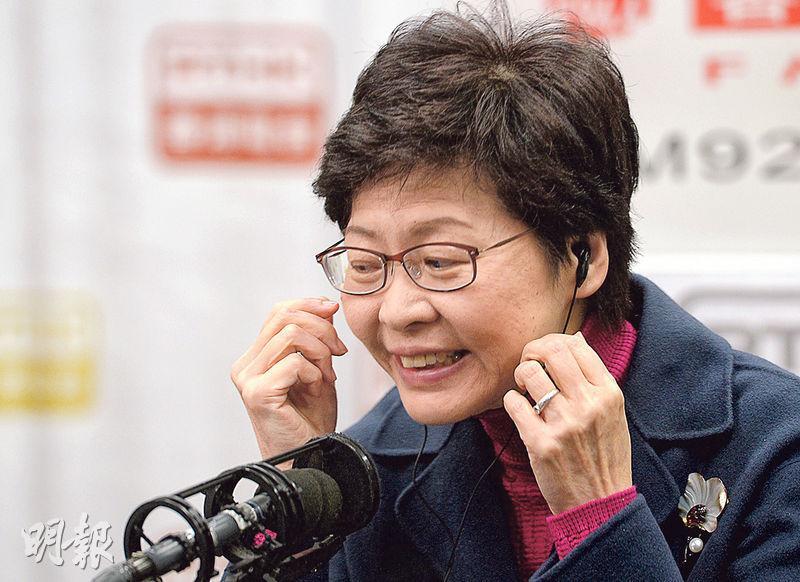特首參選人林鄭月娥(圖)說,若最終取得逾600個提名,「說明我受到廣泛的支持」,但預料「民主300+」選委不會提名她。林太說不急於交提名,亦有信心可取得150票。(劉焌陶攝)