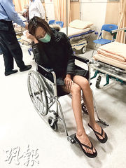 何佩瑜在台灣拍戲,卻與片中小演員同車並遇上交通意外。