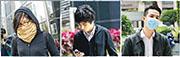 港大女學生許嘉琪(左起)、無業人士麥子晞及廚師薛達榮被控於2016年2月9日在彌敦道北行線近豉油街一帶參與暴動,被裁定暴動罪罪成,即時入獄3年。