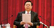 主管港澳事務的全國人大委員長張德江昨發言45分鐘,全文接近8000字,闡述中央對落實基本法和一國兩制的立場。(鄭海龍攝)