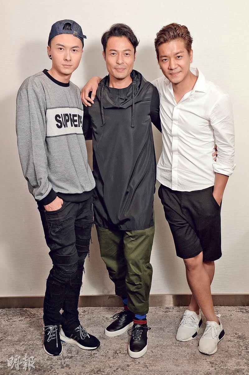 王浩信(左起)、張達倫及黎諾懿演活了《撒嬌》的角色,3大男神近期人氣大躍進,他們在訪問中教路怎樣成為真男神。(攝影﹕黃梓烜、劉永銳)