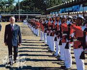 巴西總統特梅爾(左一)日前出席在首都巴西利亞舉行的一場紀念活動。(新華社)