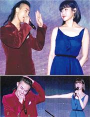 兩個月前IU出碟,邀請GD合唱《Palette》,直至昨日二人終於有機會首度同台表演。