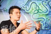 雷蛇創辦人陳民亮對於公司是否部署來港上市,不願多談,但他旗下公司在銅鑼灣首度開設專門店,並擬在港物色更多電競選手,幫助業界發展。(黃志東攝)