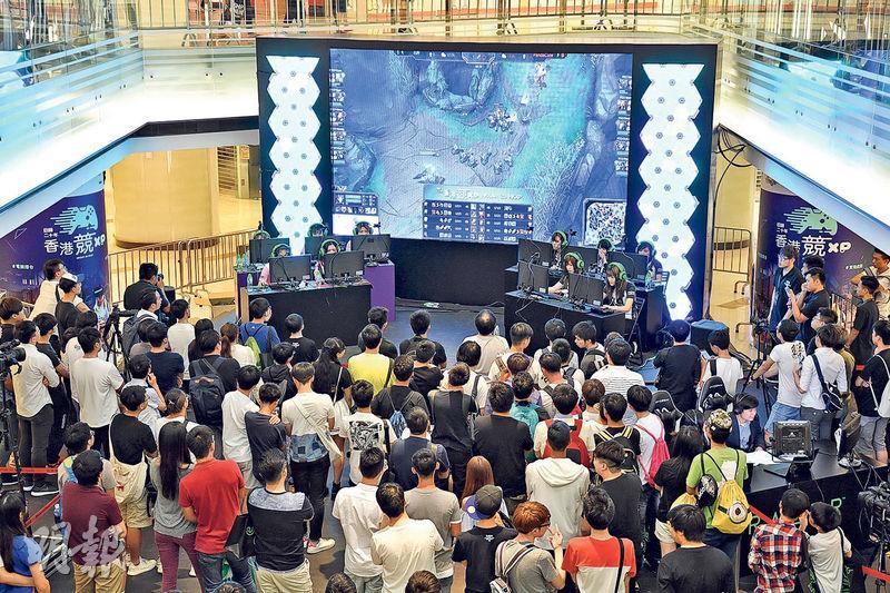 上月29日至本月9日在黃埔舉行的「香港競XP」電競比賽,吸引不少青年到場觀戰。(受訪者提供)