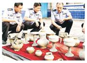 山東省滕州市公安局破獲全國罕見的「大韓村特大盜墓案」,繳獲逾200件國家級文物。(網上圖片)