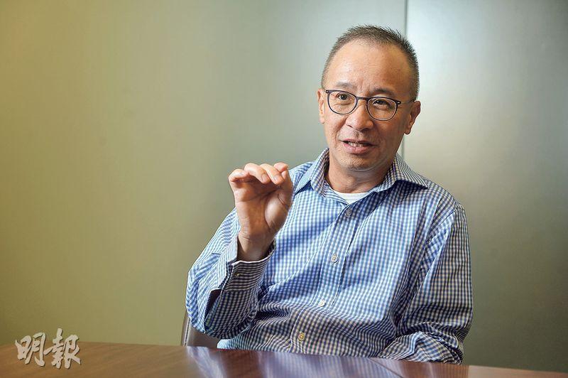 行健資產管理董事總經理潘振邦表示,內地經濟過去一年半基本面改善,名義GDP增速加快,利好企業盈利,支持中資股估值及股價上揚。(鄧宗弘攝)