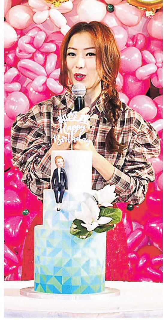 鄭秀文於生日會上公布今年大計,她表示會拍電影與錄唱片。
