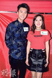 王浩信(左)與唐詩詠(右)是熒幕好拍檔。(攝影:梁迺楠)