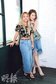 鄭融(左)與連詩雅(右)首次合作開演唱會,令粉絲們期待。(攝影:梁迺楠)