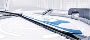 中國航天科工集團將研製時速高達4000公里的「高速飛行列車」,利用超導磁懸浮技術和真空管道,實現超音速近地飛行。圖為「高速飛行列車」模型。(網上圖片)