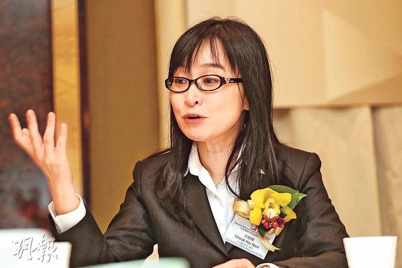 佳源行政總裁卓曉楠表示,將積極在港珠澳尋找項目,強調需符合效益測算,等待合適機會進軍本地市場。(李紹昌攝)