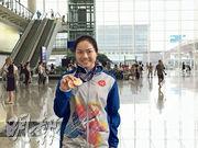 「牛下女車神」李慧詩(圖)帶着兩面銅牌返港,寄望短距離新生代能加快成長接棒。