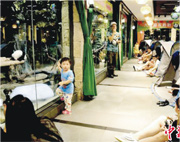 廣州有動物園推出「夜宿熊貓館」,讓遊客在帳篷中與熊貓「同眠」。(網上圖片)