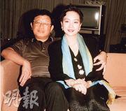 陳秋霞與丈夫馬來西亞丹斯理鍾廷森很恩愛。(資料圖片)