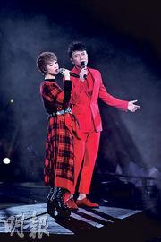 李克勤(右)讚陳慧嫻(左)是一位非常好的朋友。