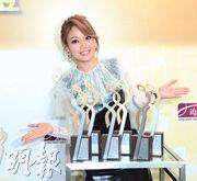 容祖兒成5獎大贏家,當中有兩個獎跟好拍檔李克勤一人一半。(攝影:林祖傑)