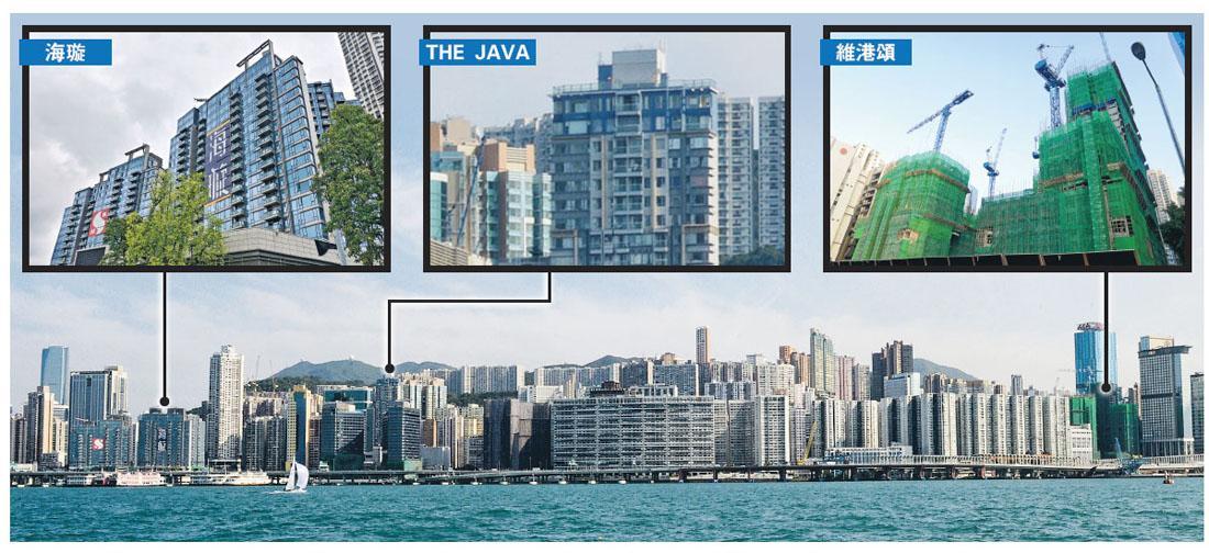 新地部署開售北角海璇前,同區英皇單幢盤THE JAVA最後一伙頂層特色戶,以實呎45,398元售出,創北角住宅呎價新高,略高於維港頌早前締造的45,308元的區內紀錄。(資料圖片)